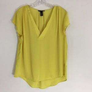 H&M Cap Sleeve Yellow Top